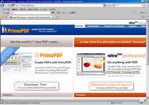 無料のPDF作成ソフトの評価 -primoPDF-