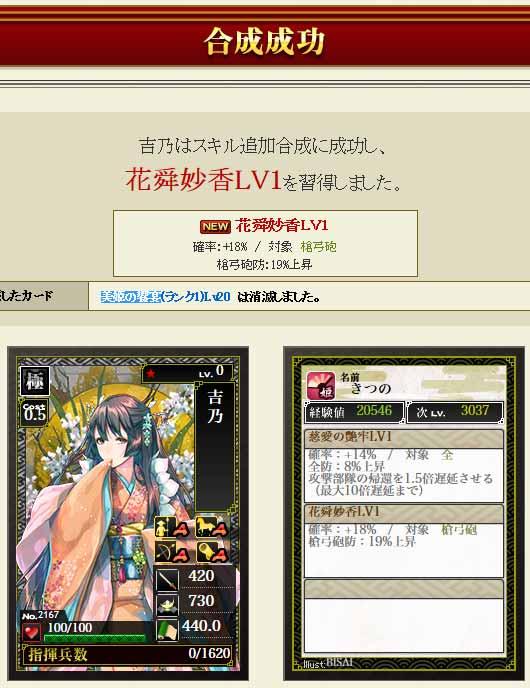 美姫の饗宴を使ってスキルを付けよう -戦国IXA-