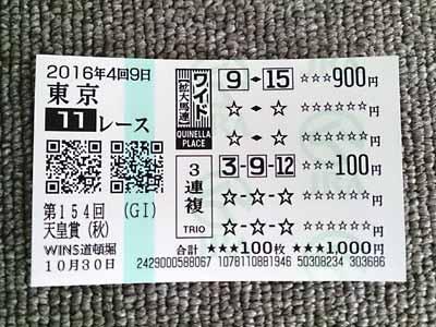 天皇賞(秋)(G1)の結果
