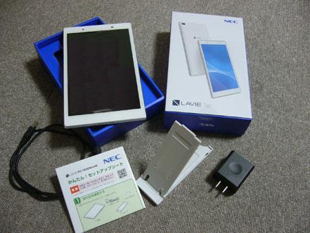 NECの Android タブレット TE508/HAW のレビュー